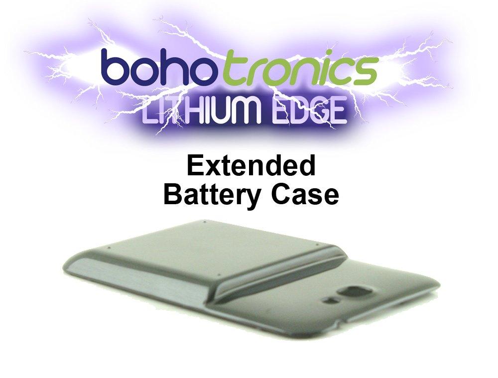 pretty nice aae8c 2f7ac Boho Tronics Lithium Edge Extended Battery Cover Black for Samsung Galaxy  Note II Compatible With Samsung Galaxy Note 2 N7100 Part # EB595675LA