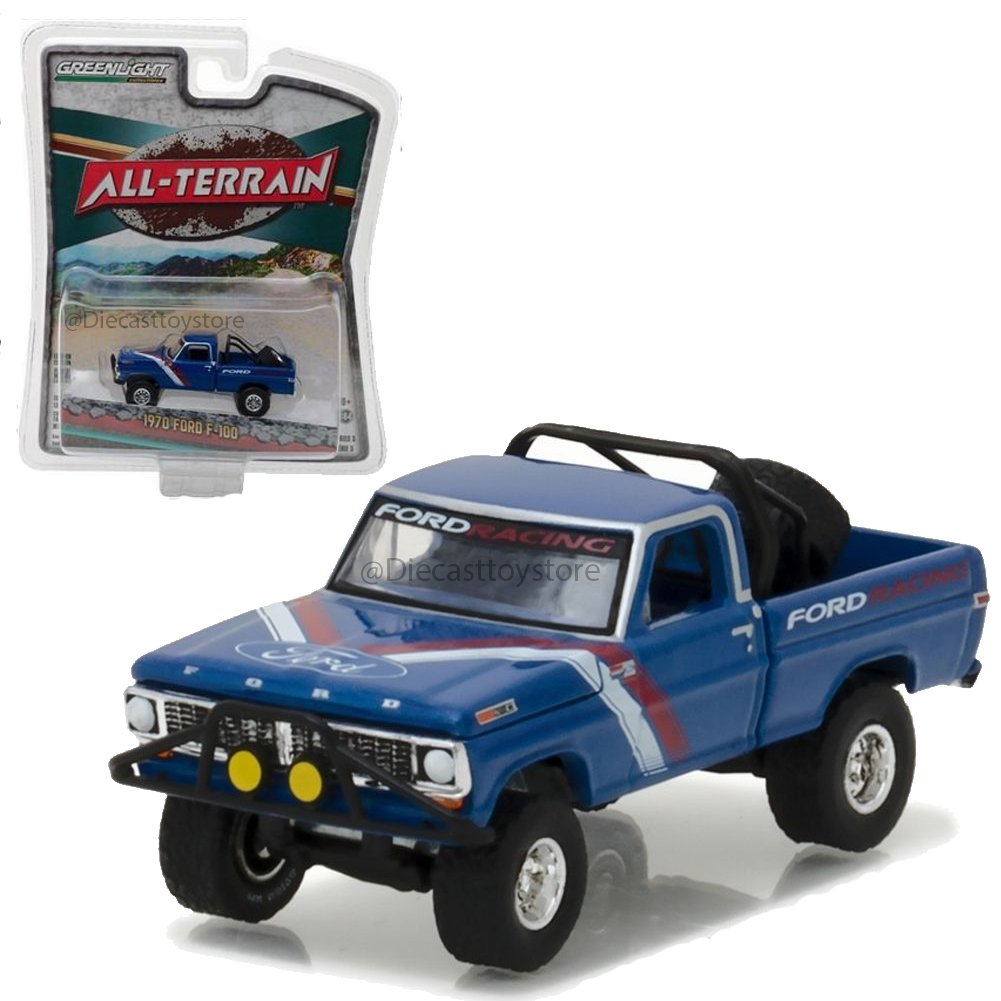 New 164 Greenlight All Terrain Series 5 Collection 1970 Ford Ranger Camper Special Blue F 100 Diecast Model Car By Toys Games