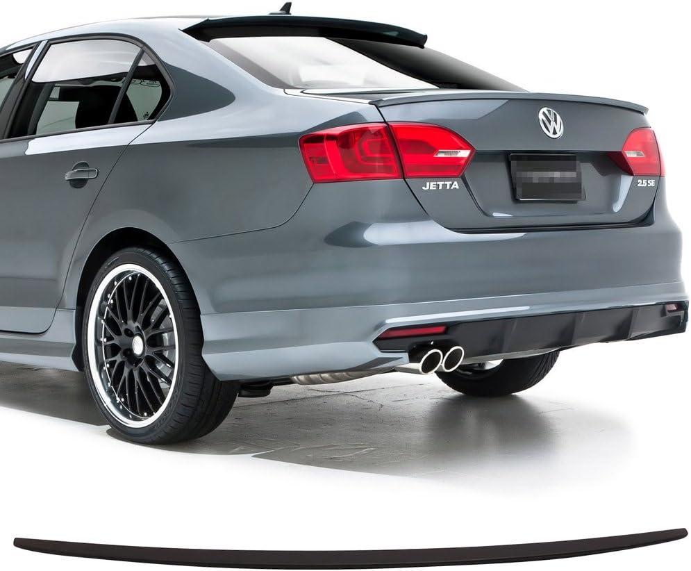 2011-2018 Volkswagen JETTA Factory Style Spoiler Lip Wing Fin UNPAINTED ABS