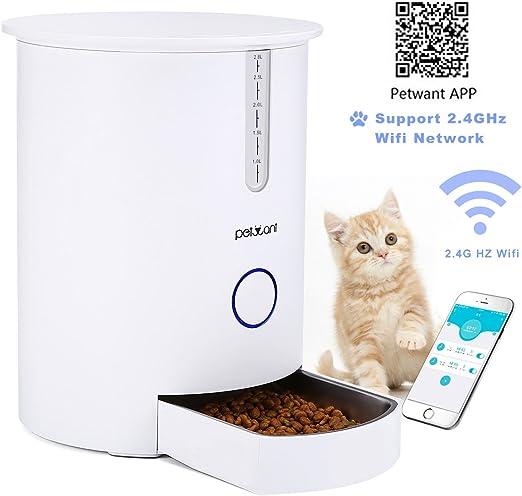 Focuspet Alimentador automático de Mascotas dispensador automático ...