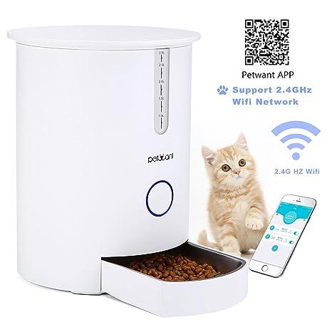 Focuspet Alimentador automático de Mascotas dispensador automático de Alimentos para Gatos y Perros 2.8L Alimentador