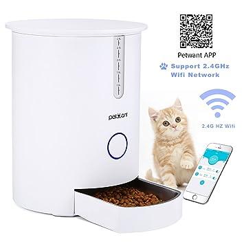Focuspet Alimentador automático de Mascotas dispensador automático de Alimentos para Gatos y Perros 2.8L Alimentador para Mascotas Gatos con App Programable ...