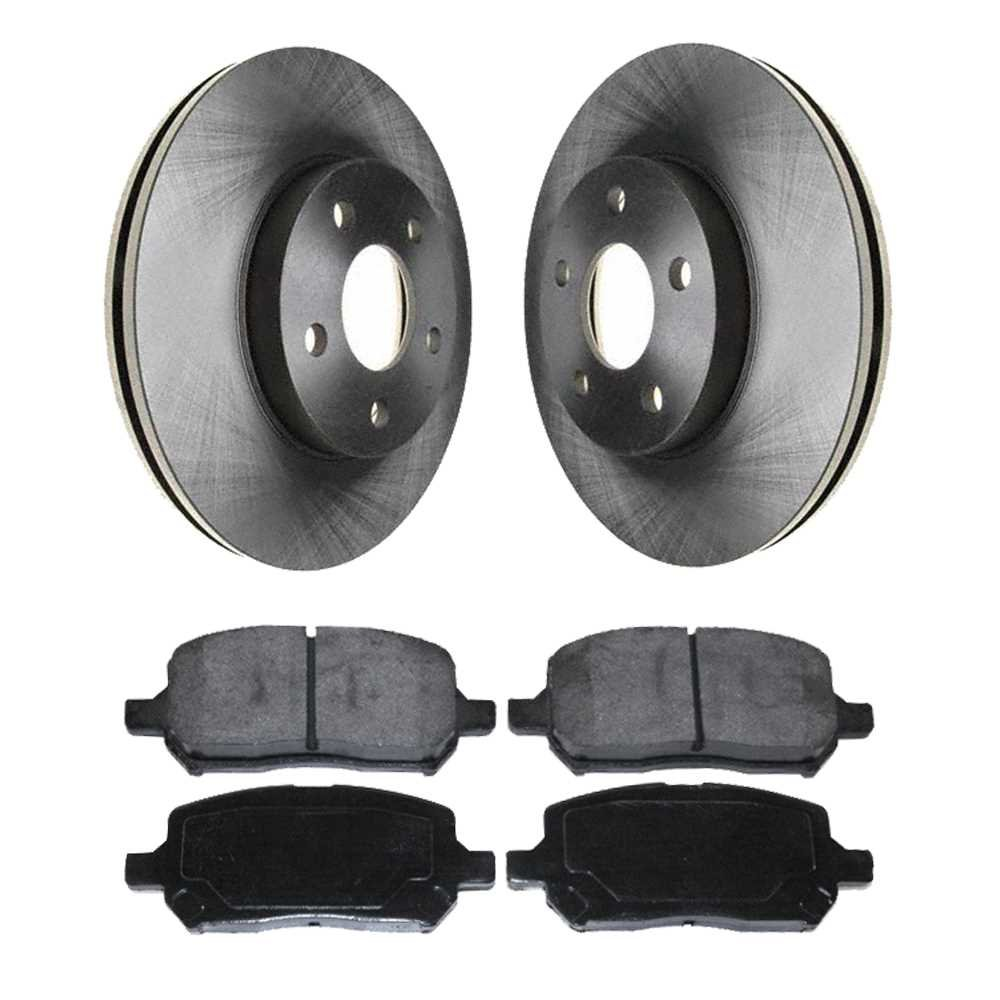 Prime Choice Auto Parts SMK956-R65146 Front Set of Premium Rotors and Semi Metallic Pads