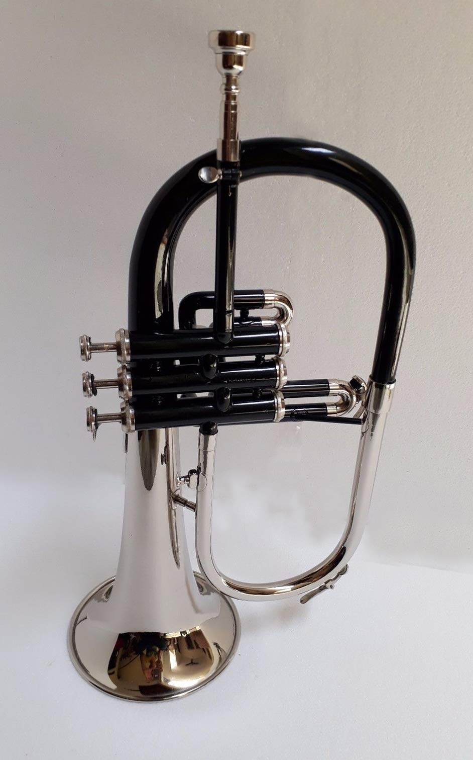 SHREYAS TF45 Bb Flat NICKLE BLACK Flugel Horn With Free Hard Case+Mouthpiece by SHREYAS (Image #2)