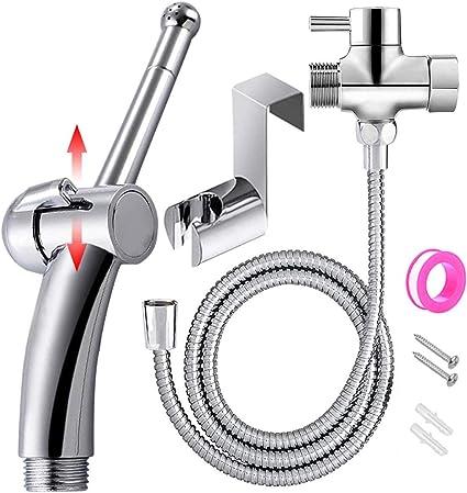 Pour toilettes Filetage G1//2 Estink Douchette /à main pour bidet en cuivre avec impression dor/ée