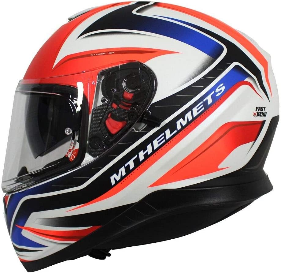 MT Thunder 3 SPR Limited Edition Helmet Full Face Motorcycle Bike Scooter Crash ACU Lid Red//White//Blue Union Large