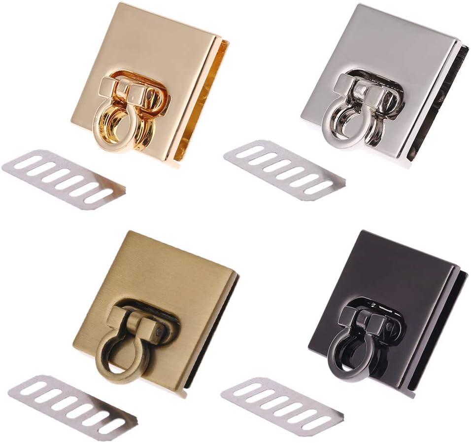 suoryisrty Bag Lock 1 Piece Metal Twist Lock Bag Case Clasp for Handbags Crossbody Shoulder Bag Purse Accessories DIY Craft Black