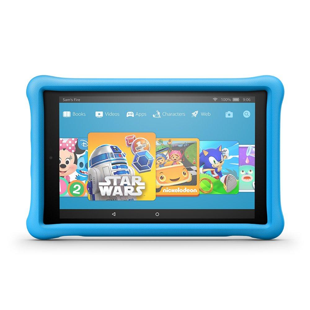 "Fire HD 10 Kids Edition Tablet, 10.1"" 1080p Full HD Display, 32 GB, Blue Kid-Proof Case"