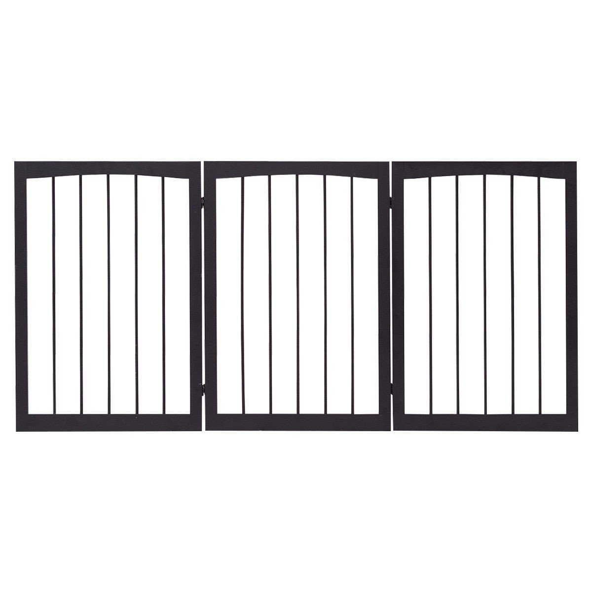 Costway Folding Adjustable Free Standing 3 Panel Wood Pet Dog Slide Gate Safety Fence + FREE E-Book Only By eight24hours