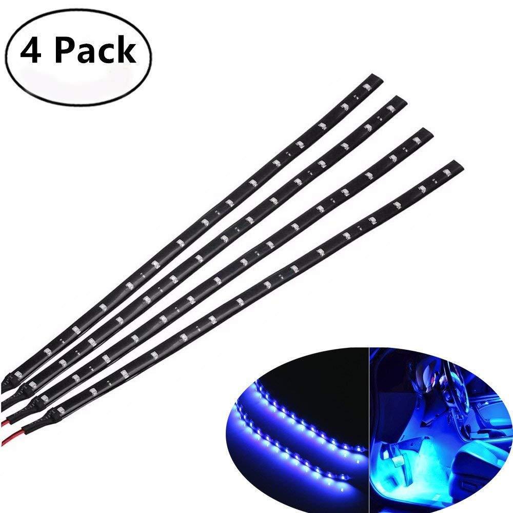 Haichen Néon flexible à 15 LED SMD pour voiture et moto, bande lumineuse étanche de 30cm, 12V bande lumineuse étanche de 30cm 12V
