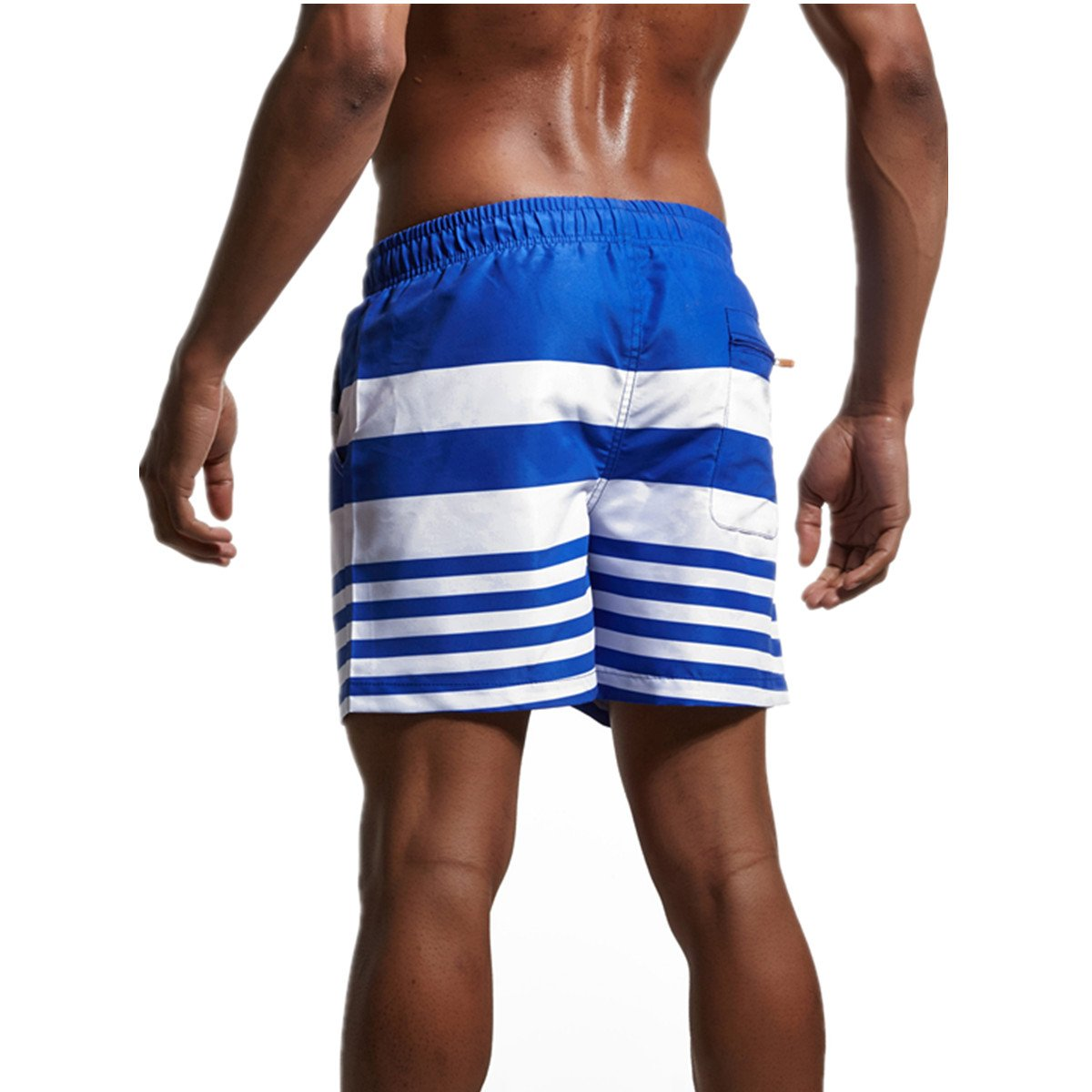 CHENHENG Mens Swim Trunks Swim Shorts Quick Dry Beach Shorts Broad Shorts with Pockets for Surfing Swimming (L_ Asia XXL -Waist:33\