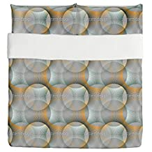 Transparency Of The Sunray Circles Duvet Bed Set 3 Piece Set Duvet Cover - 2 Pillow Shams - Luxury Microfiber, Soft, Breathable