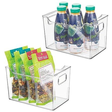 mDesign Juego de 2 fiambreras para el frigorífico - Cajas de ...