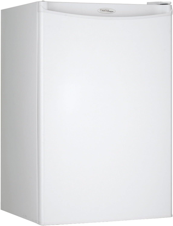 Danby DAR044A4WDD Compact Refrigerator, 115 V, 15 A, 1 Door, 4.4 cu.ft, All Fridge White