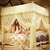 Tulle Palace Mosquito Net, Double Household Stainless Steel Bracket Floor-standing Bed Canopy Mosquito Curtain-B King