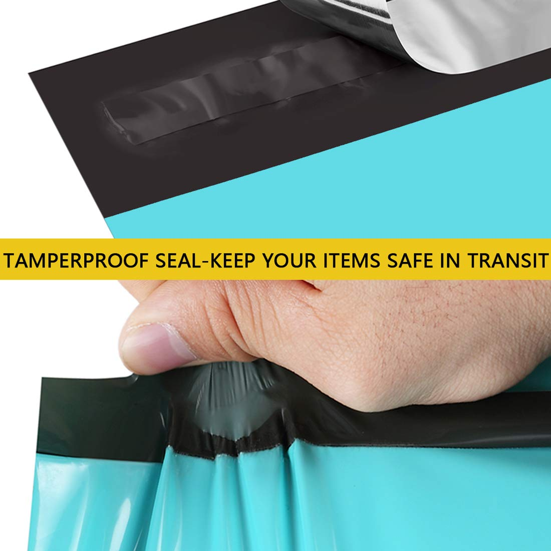 """Clear-Front Poly Mailers 6/"""" x 9/"""" Premium Tear-Proof Shipping Envelopes"""