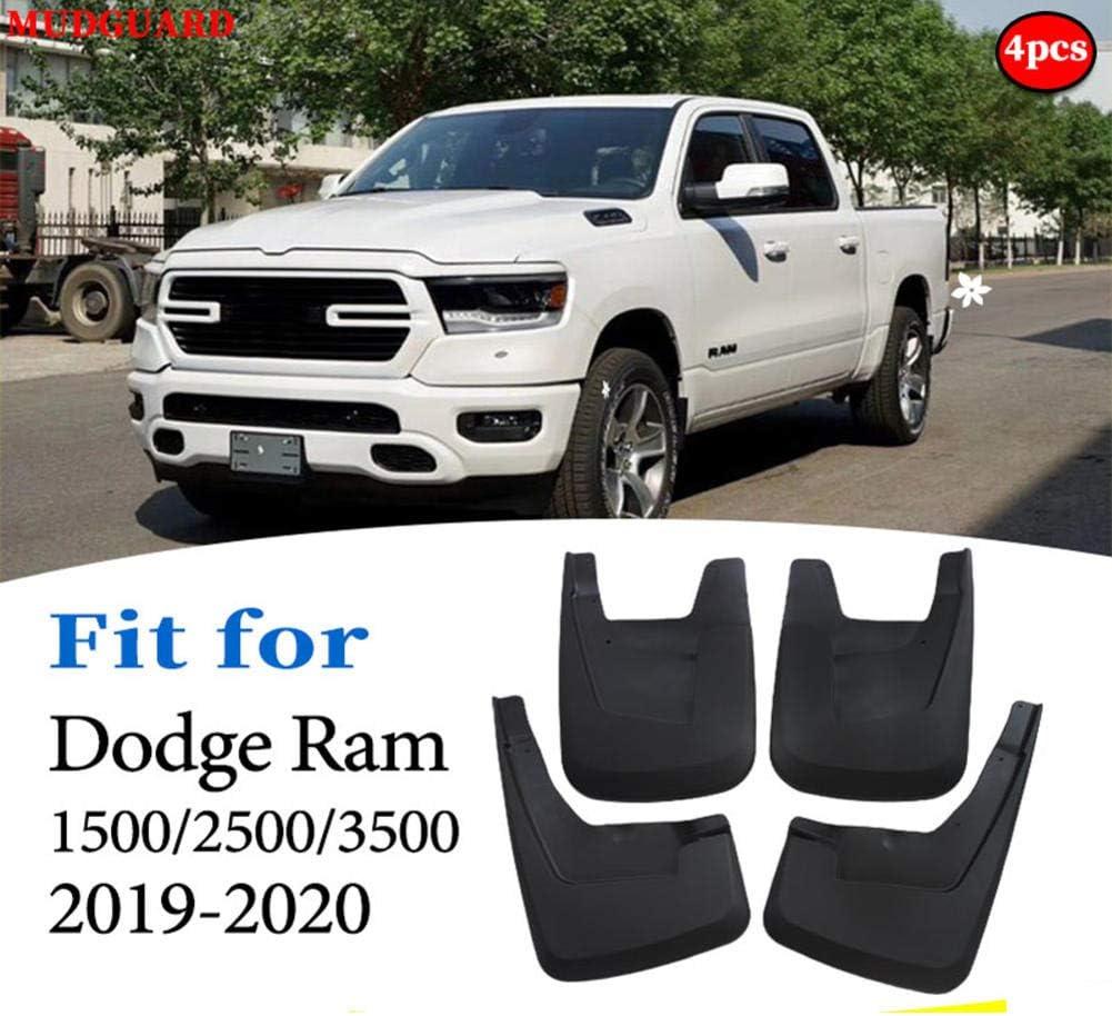 YINSHURE Car Mudflaps Splash Guards Mudguards Mud Flaps Car Fenders Accessories,for Dodge Ram 1500 2500 3500 2019-2020