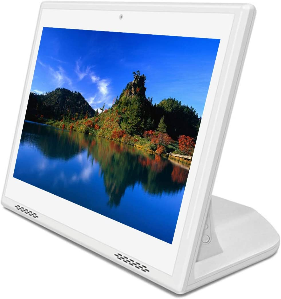 White Color L-Type 10-inch Touch All-in-one Machine with 1280 /× 800 Resolution IPS Screen HD Commercial Advertising Machine