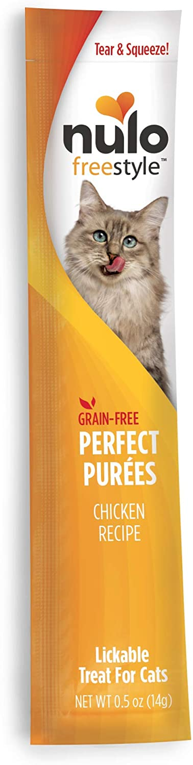 Nulo, FreeStyle Perfect Puree Chicken Lickable Cat Treat.5 oz