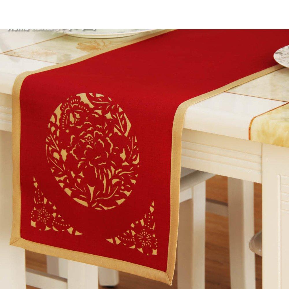 シンプルな中空テーブルランナー/ Dragon Flag /ホテル家庭用タオル/ベッドランナー/ Teaテーブルランナー/ Covering布 33x183cm(13x72inch) WDGYSVTG 33x183cm(13x72inch) B B01MXUBAH4