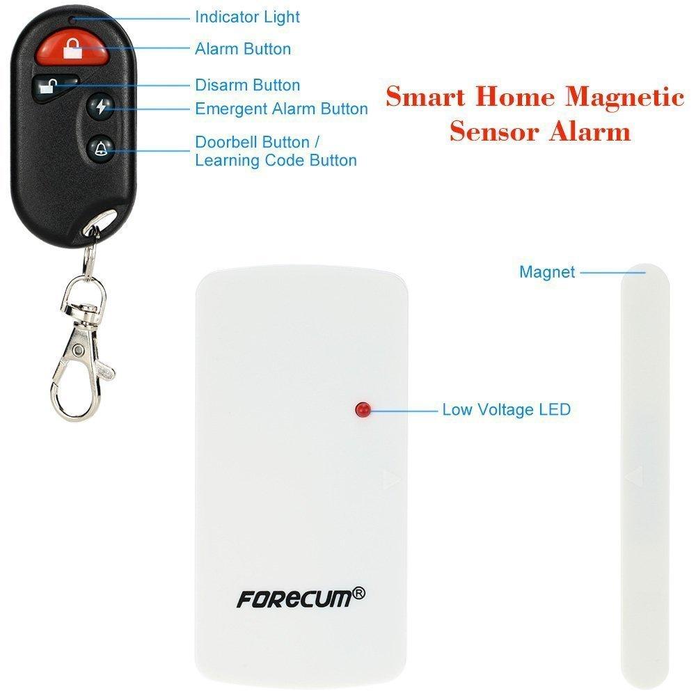Alarma de Seguridad de Control Remoto para Puertas y Ventanas Alarmas de Seguridad de Control Remoto Antirrobo con Sensor Magnético: Amazon.es: Bricolaje y ...