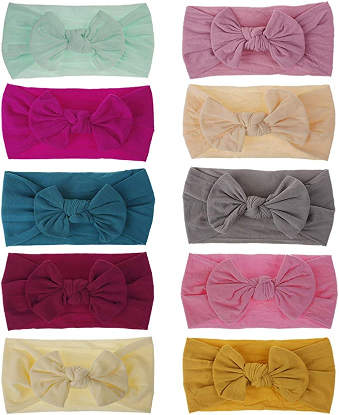 """4/"""" Synthetic Leather Glitter Bow Headband Head Hair Band Bands Baby Girls"""