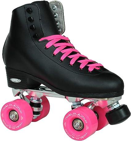 Classic High-Top Four Roller Skates Retro Roller Skates. Unisex Roller Skates Double Row Roller Skates