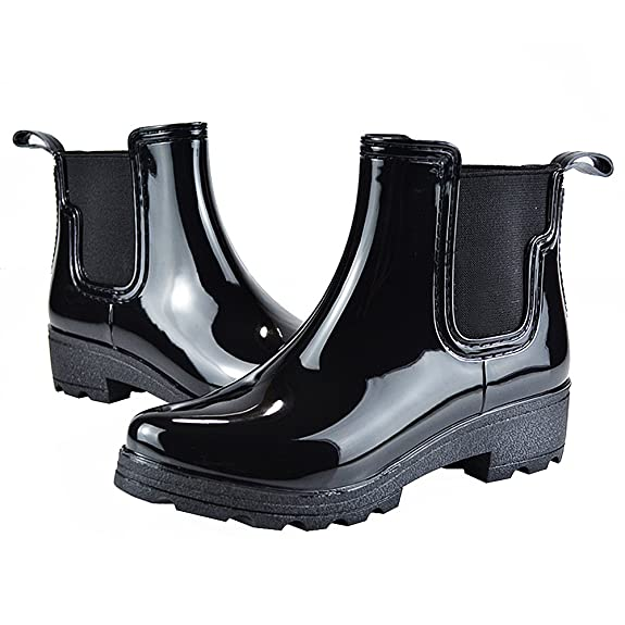 Jamron Jamrom Women Stylish Chelsea Boots Snow Rain Boots High Ankle Chunky  Heel Wellington Boots: Amazon.co.uk: Shoes & Bags