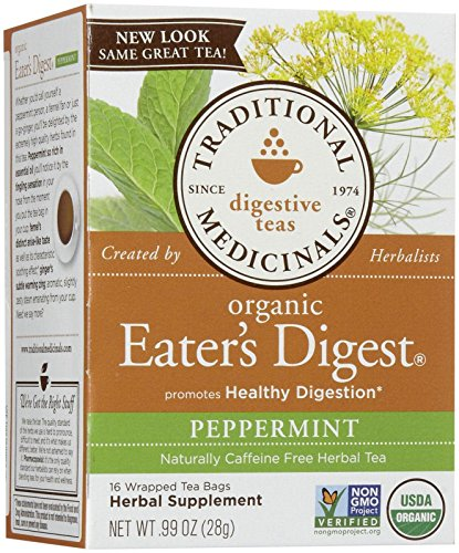 - Traditional Medicinals Organic Eater's Digest Tea Bags - Peppermint - 16 ct