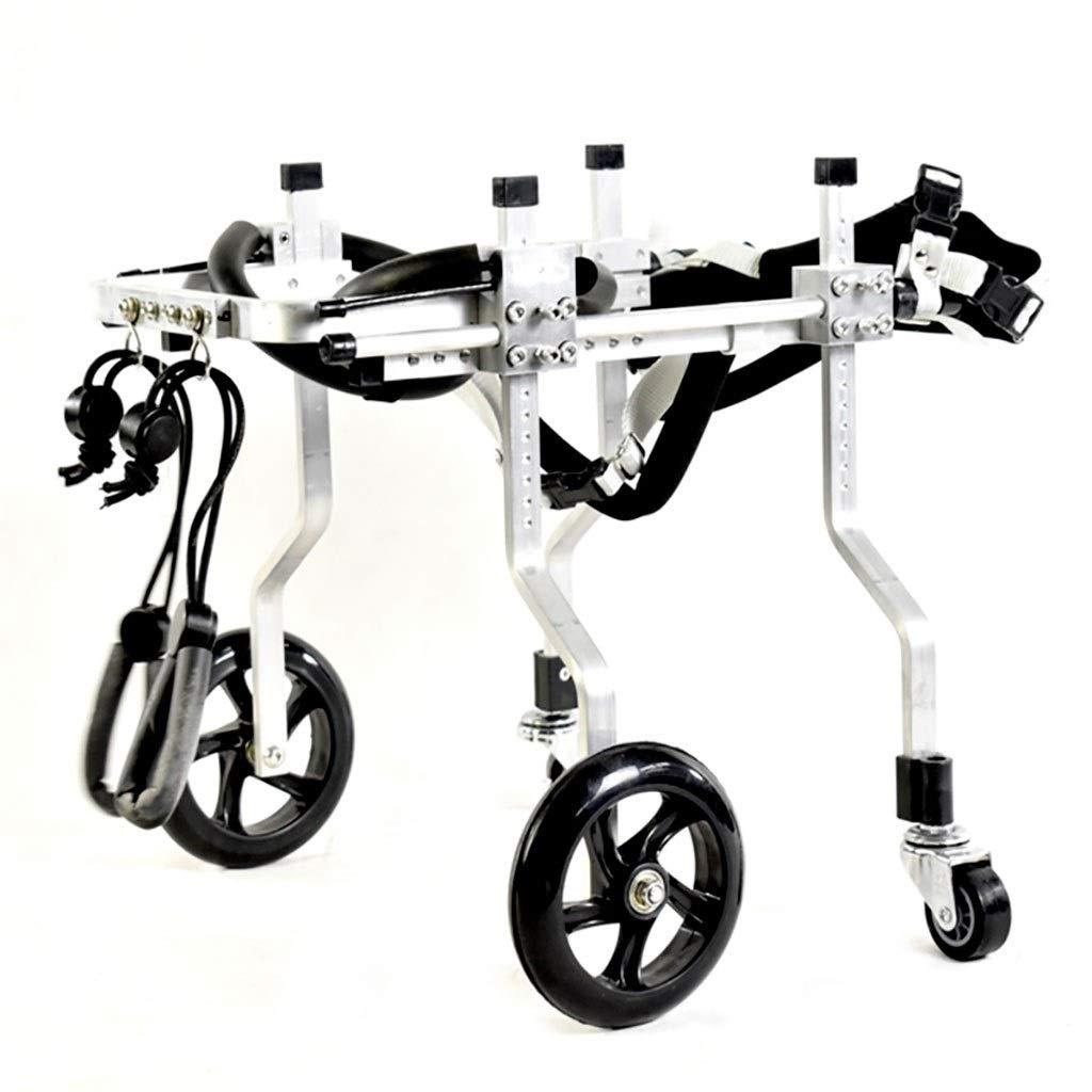 麻痺障害犬補助用品、犬車椅子老犬スクーター、障害犬支援後肢スポーツカー、自由に調整可能なサイズ、大型補助ブラケット車椅子麻痺障害犬、ペット車椅子 (Size : L)  Large