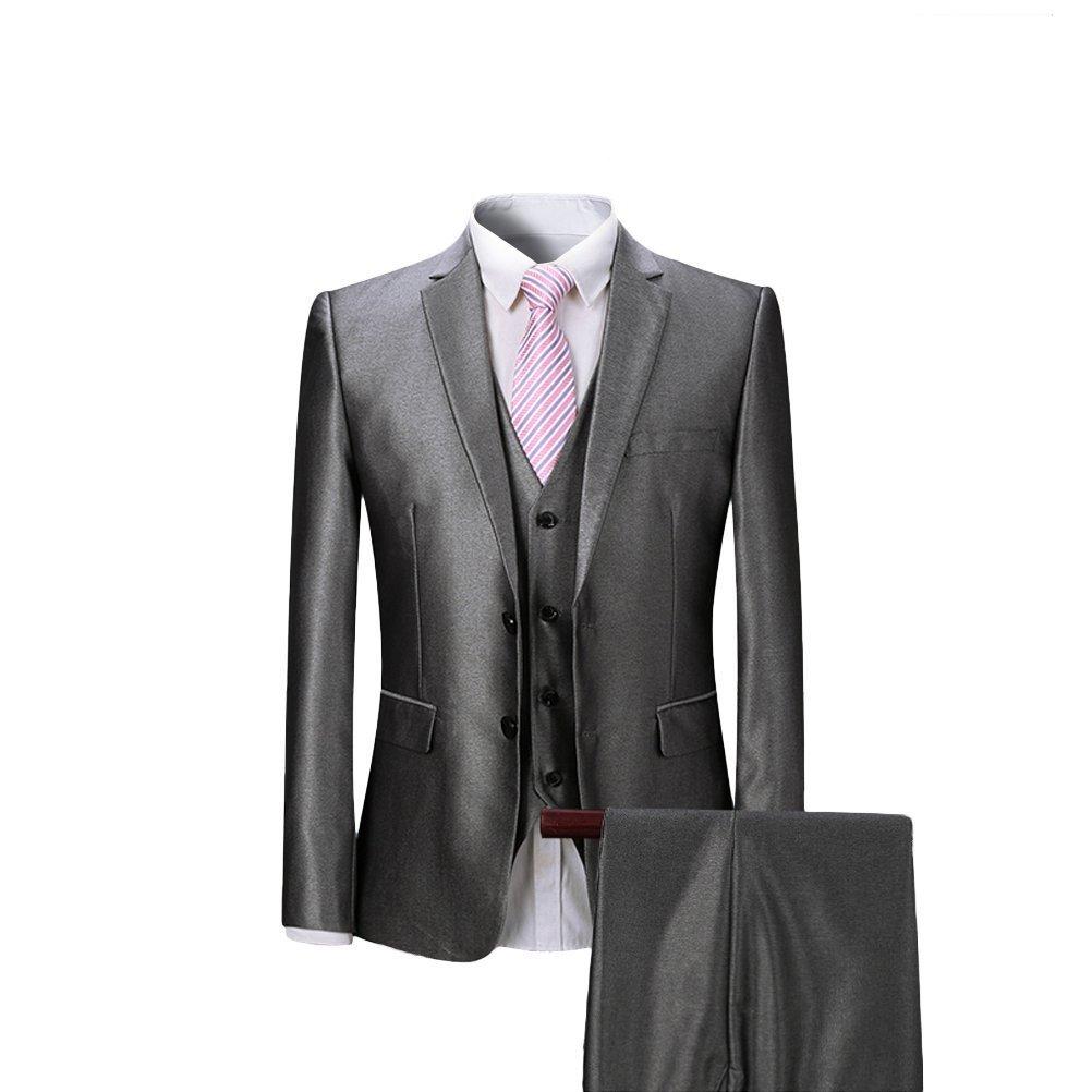 CEEN 高品質 新着 メンズ スーツ 2つボタン 上下セットスーツ スリムスーツ スタイリッシュスーツ ビジネス/結婚式/パーティー/入学式 ジェントルマン パンツウォッシャブル B07171K3L8 XX-Large|グレー3 グレー3 XX-Large
