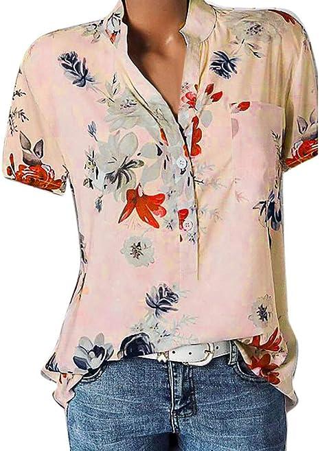 KaloryWee camisa blanca para mujer, cuello en V, blusa suelta con botones, camisetas para bicicleta de montaña, camisetas de manga corta para bicicleta de carretera, ropa de verano MTB floral, mujer, SHIRT -