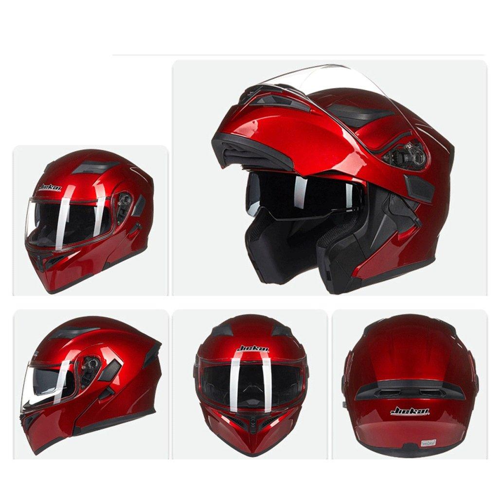 DGF ヘルメットダブルレンズオープンフェイスヘルメットオートバイ機関車トラムプロフェッショナルレーシングスポーツライト快適な多色オプションの男性と女性 (色 : E, サイズ さいず : M) B07FNQRJK6 Medium E E Medium