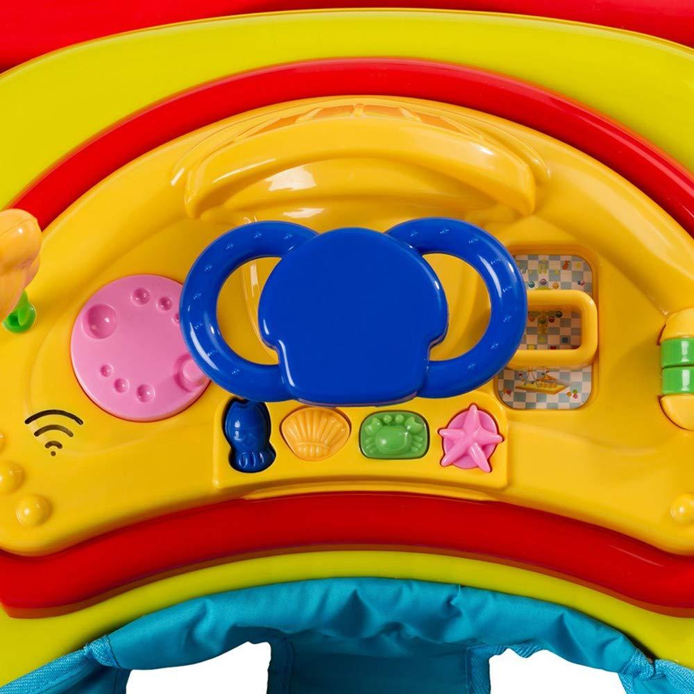 Lauflernwagen mit Musik /& Anti-Rutsch-Funktion Baby Walker f/ür 6-18 Monate H/öhenverstellbare /& faltbare Gehhilfe 78x64x55cm Schwarz GOPLUS Baby Lauflernhilfe mit bequemem Sitzkissen