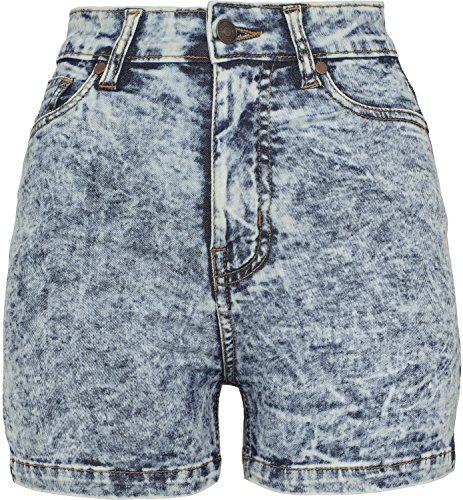 Vita blu Skinny Denim Ladies Alta Pantaloncini OnZxXdwX