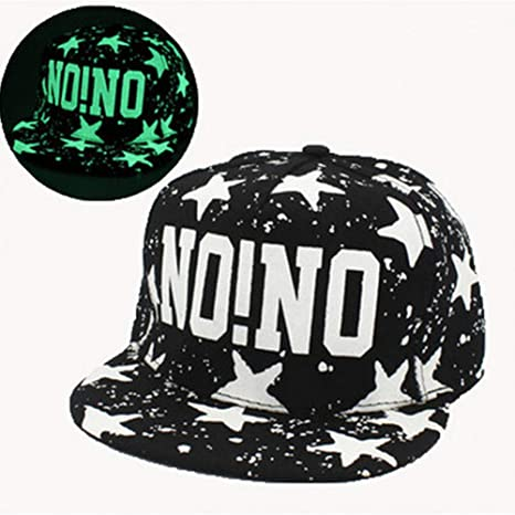JKYJYJ New Glow In The Dark Imprimir Letra NONO Snapback Gorras ...