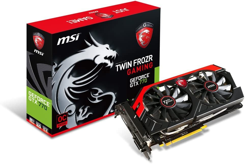 MSI NVIDIA GeForce GTX 770 2GB 256-Bit GDDR5 DisplayPort DL-DVI-I, DL-DVI-D, HDMI, PCI Express 3.0 Graphics Card N770 TF 2GD5/OC