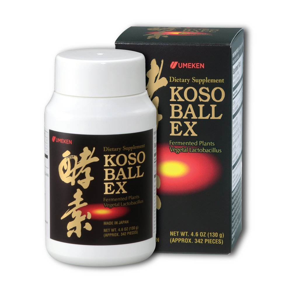 Umeken Special Koso EX- Small bottle (40 day supply) Contain 108 different types of fruit, vegetables, and herbs to provide energy, aid digestion, and improve overall health.