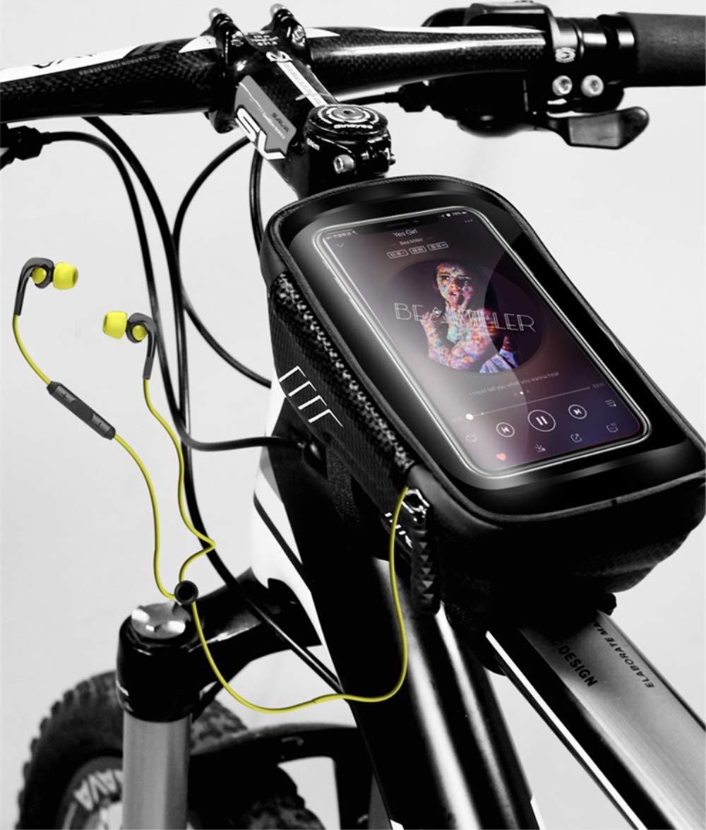 Happyroom Fahrrad Rahmentasche Wasserdicht Fahrradtasche Lenkertasche Handyhalter Oberrohrtasche f/ür iPhone 8 Plus//X//XS Max//XR//Samsung S8 Plus//S9 Handy bis zu 6,5 Zoll