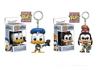 Juego de 2 llaveros Funko Pop, figura: Kingdom Hearts Donald ...