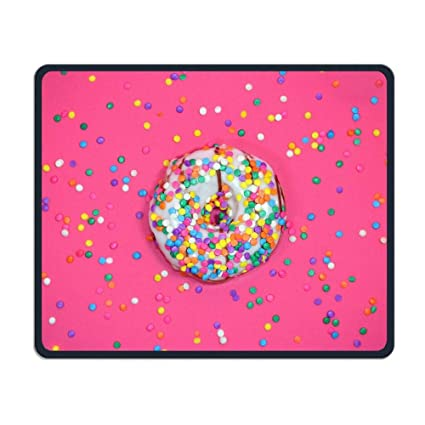 Fan Shop Iced Ring Doughnut Office Rectangle Non-Slip Rubber Mouse Pad Retro Gaming Mouse Pad for Laptop Displays Tablet Keyboard