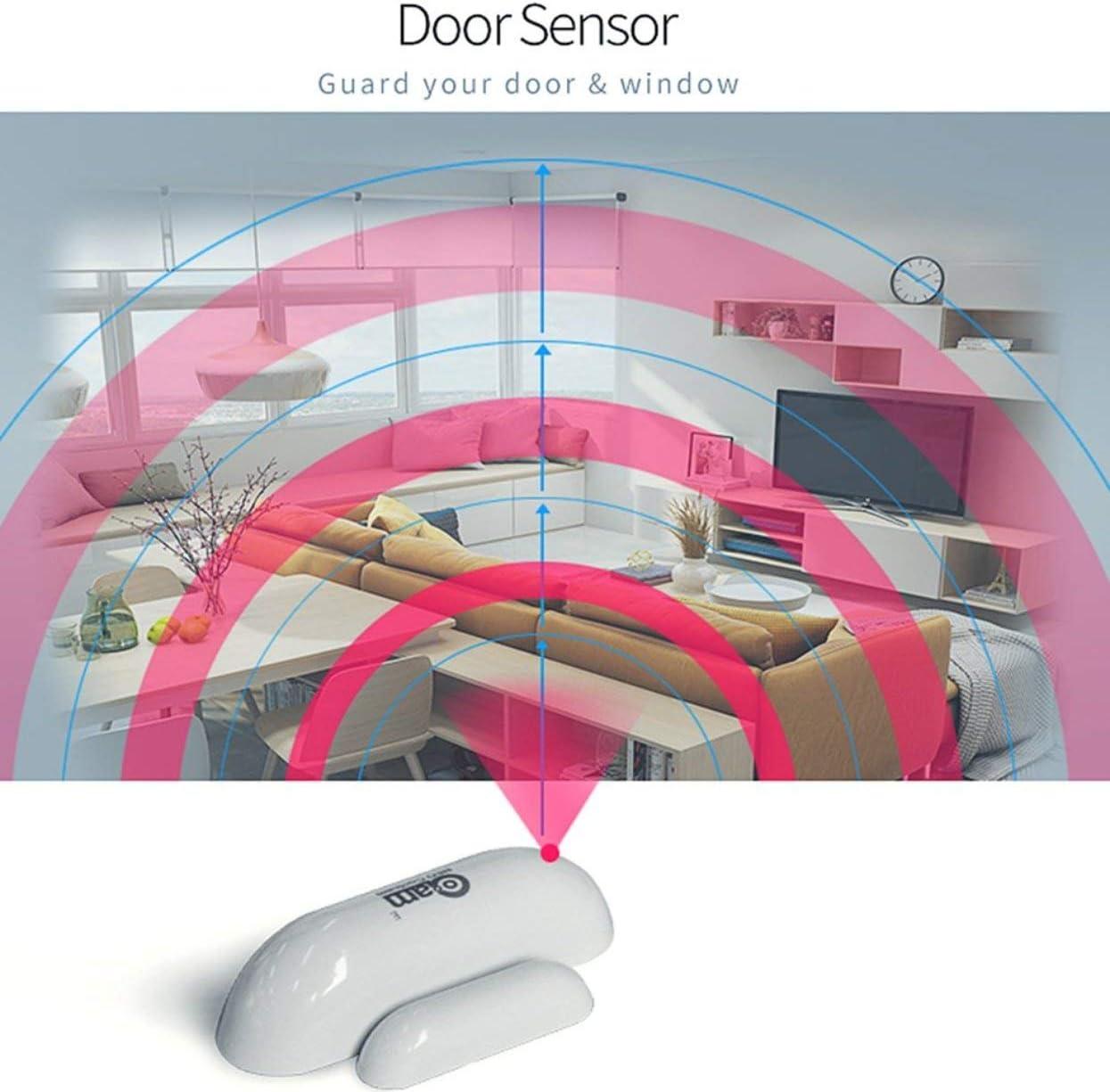 Tree-on-Life Sensor de la Ventana de la Puerta Z-Wave Detecci/ón del Estado de la Puerta Detecci/ón de Intrusos Dispositivo Z-Wave Compatible Serie 300 y Serie 500