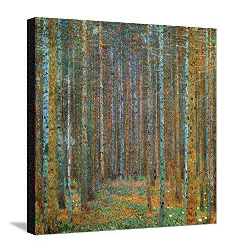 Tannenwald Pine Forest, c.1902 Landscape Stretched Canvas Poster Print by Gustav Klimt