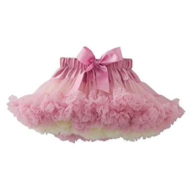 fdfb917726 Amazon.com: kephy Girls Pettiskirts Children Tutu Kids Tulle Skirts Baby  Birthday Ruffle Skirt Rainbow Dress: Clothing