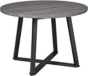 Signature Design by Ashley Centiar Dining Room Table, Gray/Black