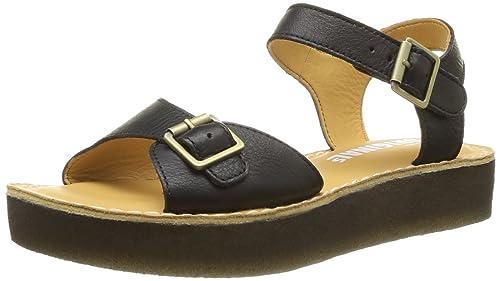 Clarks Originals Linnet Flat Sandals in Black | Urban