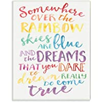 The Kids Room by Stupell Somewhere Over the Rainbow Watercolors Wall Plaque, 10x15, Design By Artist Erica Billups
