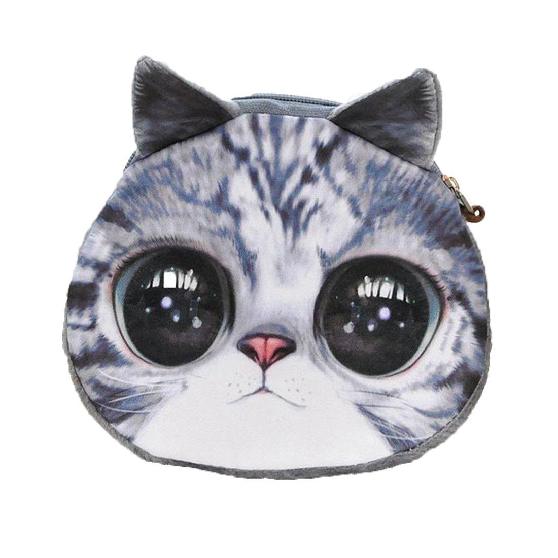 LQZ(TM) Femmes Fille Porte-monnaie Mini Bourse Coin Portefeuille Zip Mignon 3D Animal Cadeau