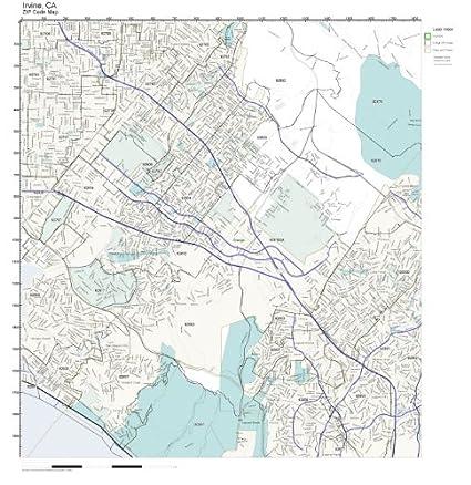 Amazon.com: ZIP Code Wall Map of Irvine, CA ZIP Code Map Not ...