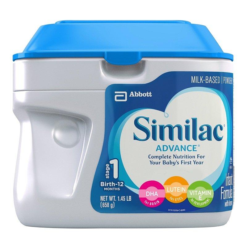 限Prime会员&试用会员!Abbott雅培Similac成长发育1段婴幼儿奶粉23.2盎司(658g)
